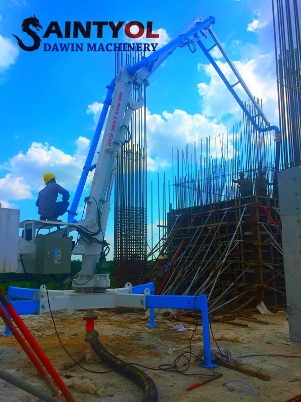 13m hydraulic spider concrete placing boom