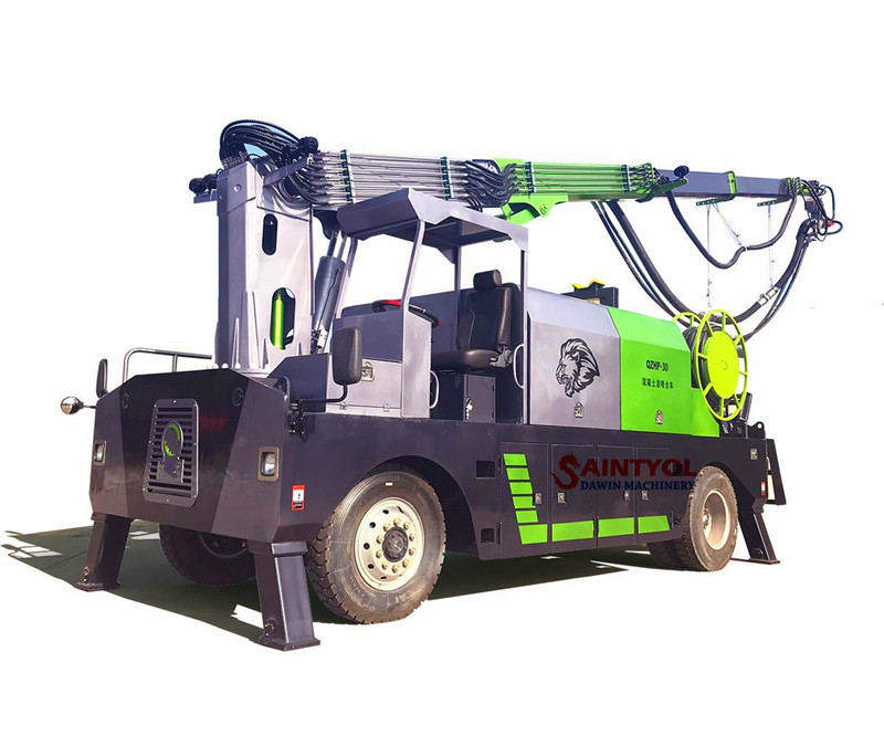 wet concrete spraying machine robot shotcrete pump truck