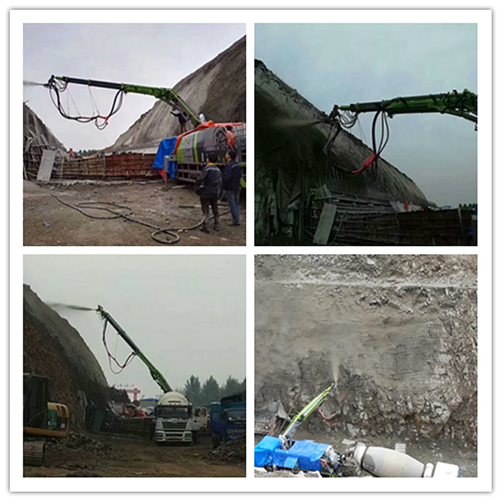 wet concrete shotcrete pump spraying machine