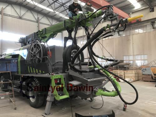 30m3/hr Truck Mounted Wet Concrete Spraying Machine, Shotcrete Pump Truck