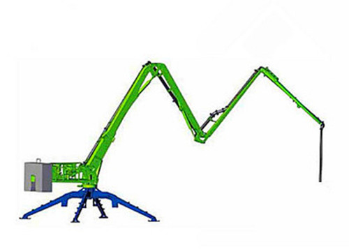 21m Trailer Mobile Spider Concrete Placing Boom, 4 Sections