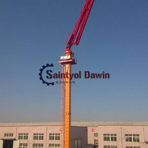 32m Column Tower Hydraulic Jack-Up Concrete Placing Boom, Self Climbing Concrete Placing Boom