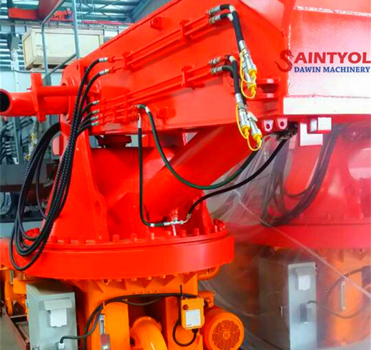 stationary concrete placing boom rotary table