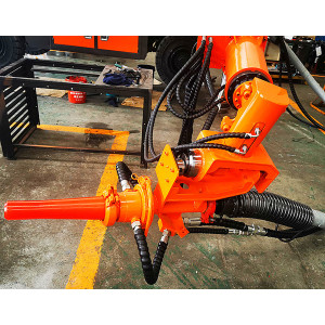 30m3/hr Excavator Quick Coupler Shotcrete Head, Mountable Shotcrete Spray Head