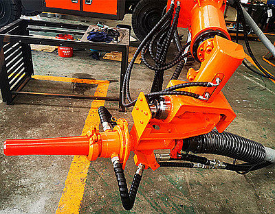 robot shotcrete head for excavator
