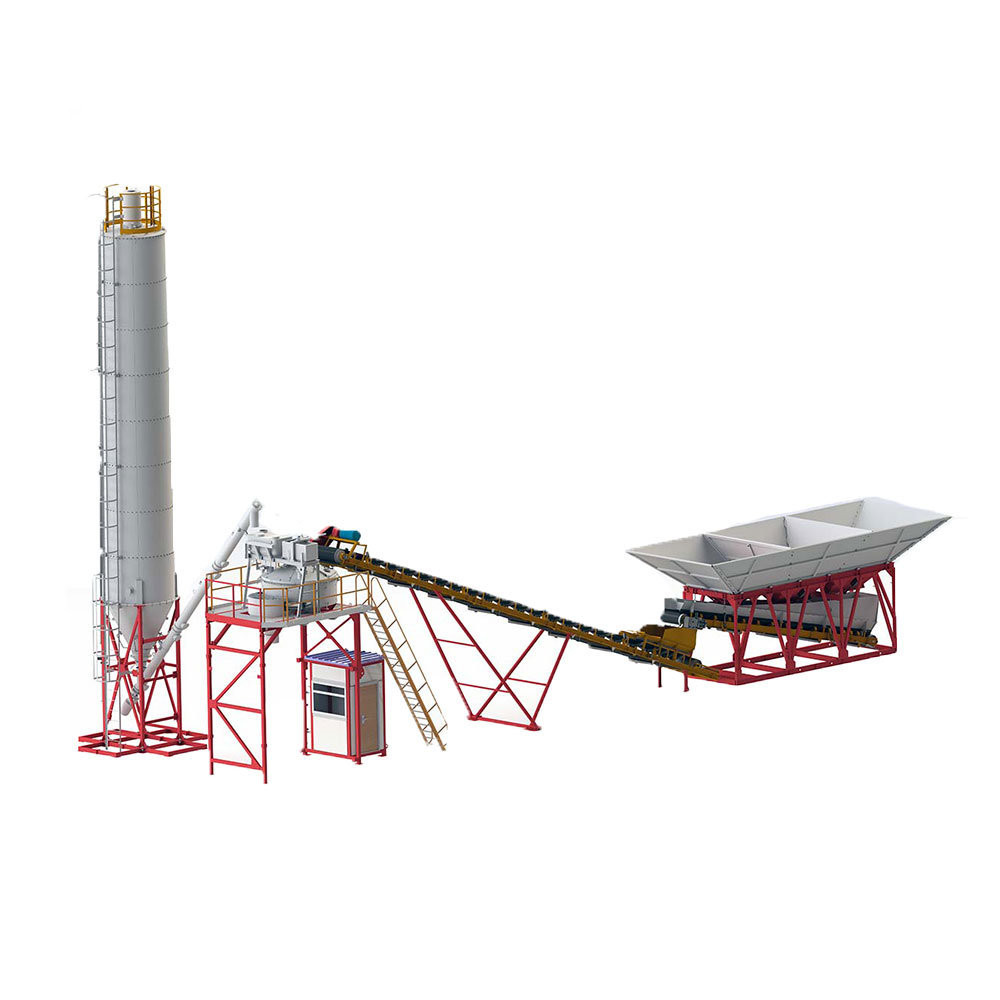 stationary fixed concrete batching plant