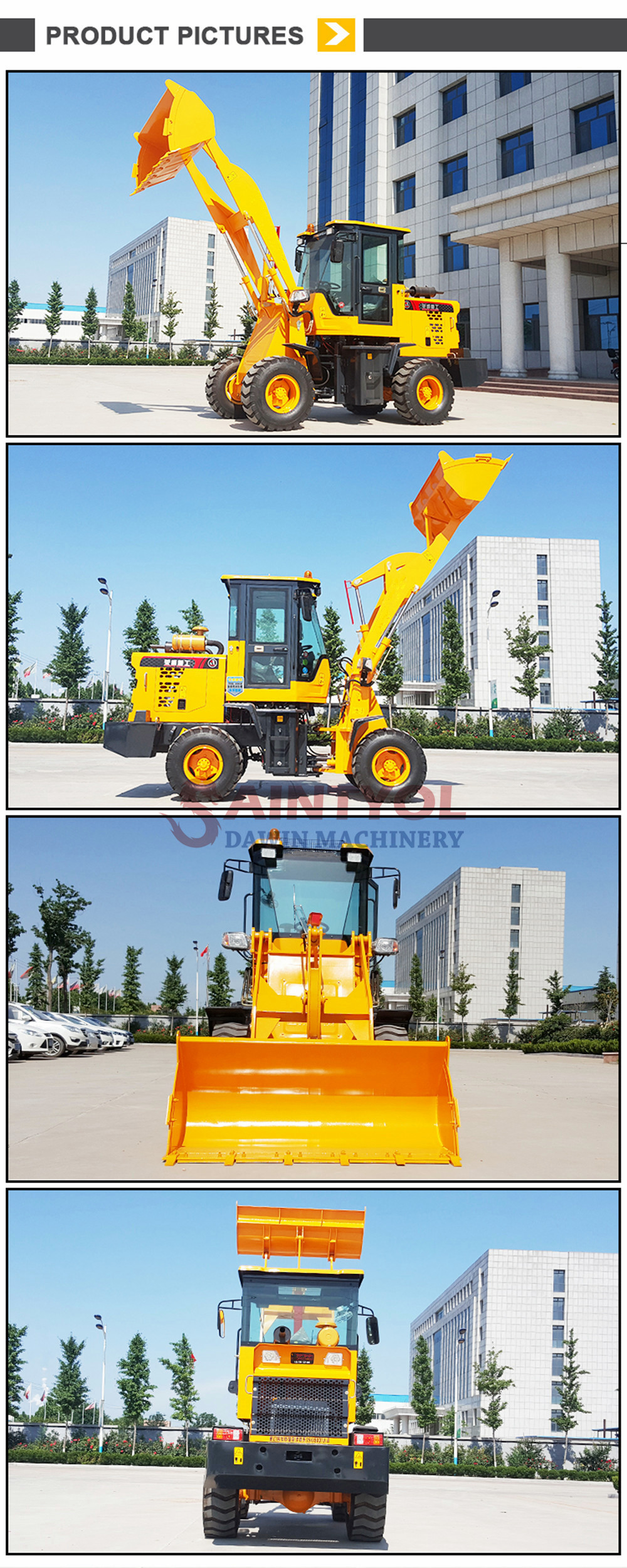 front end wheel loader china factory