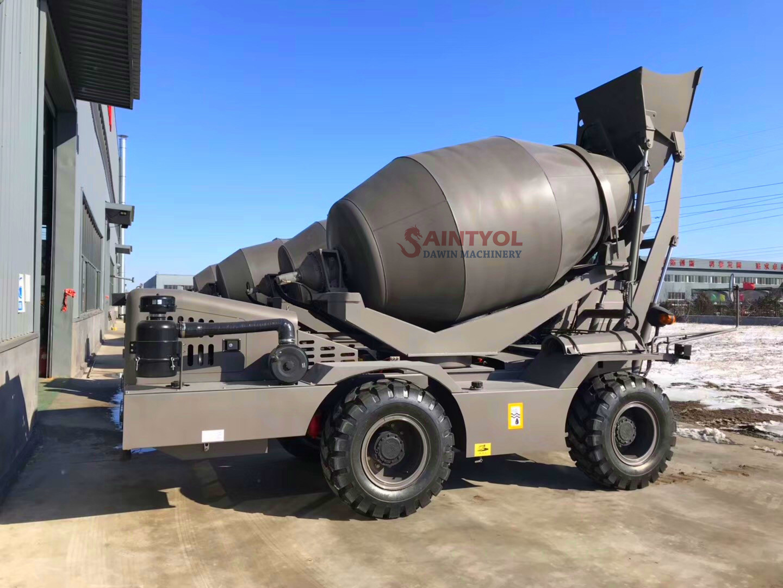 self loading concrete mixer customized