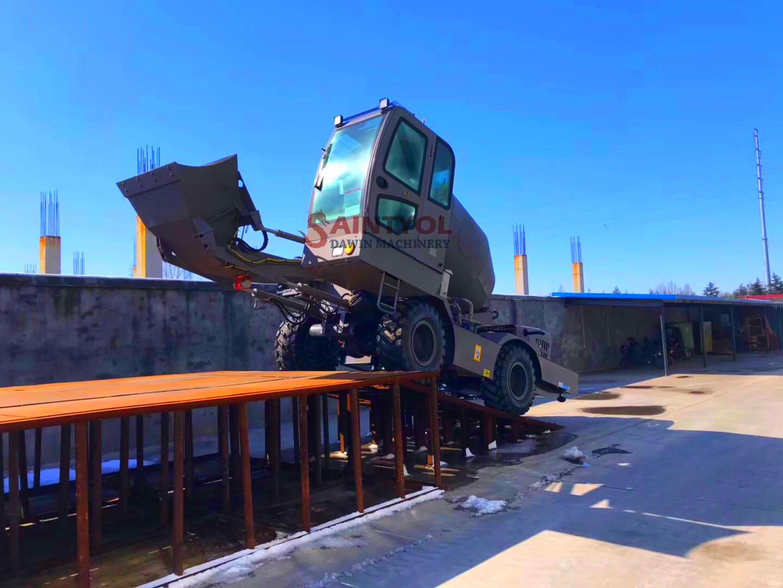 customized automatic self loading concrete mixer mini concrete batching plant
