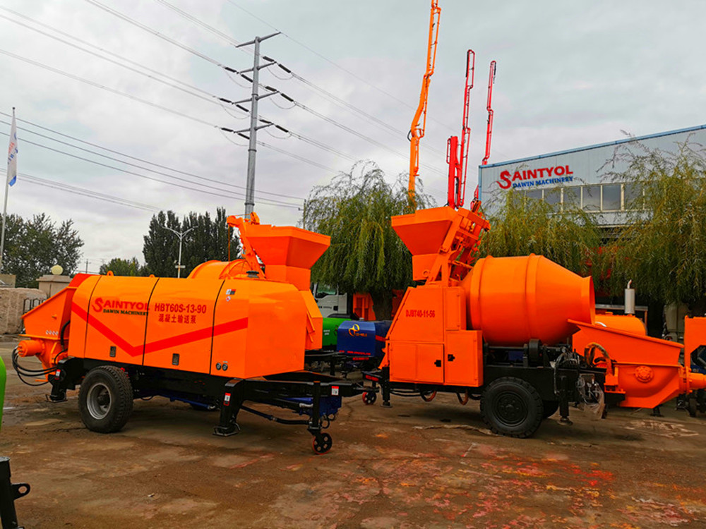 concrete pump and concrete mixing pump
