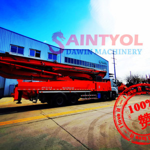 44m 5RZ Concrete Boom Pump Truck With Customized Chassis