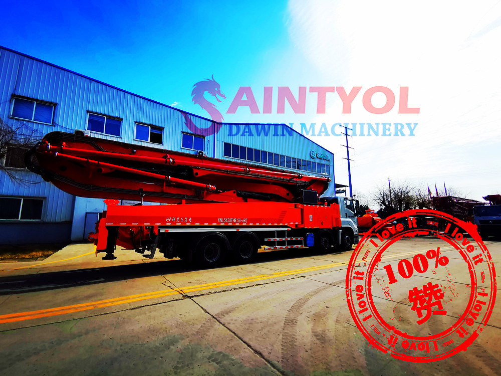 saintyol dawin machinery concrete boom pump truck