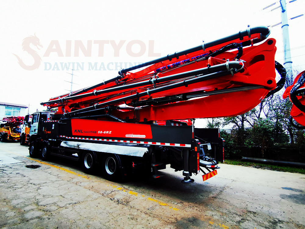 58m hot selling concrete boom pump truck