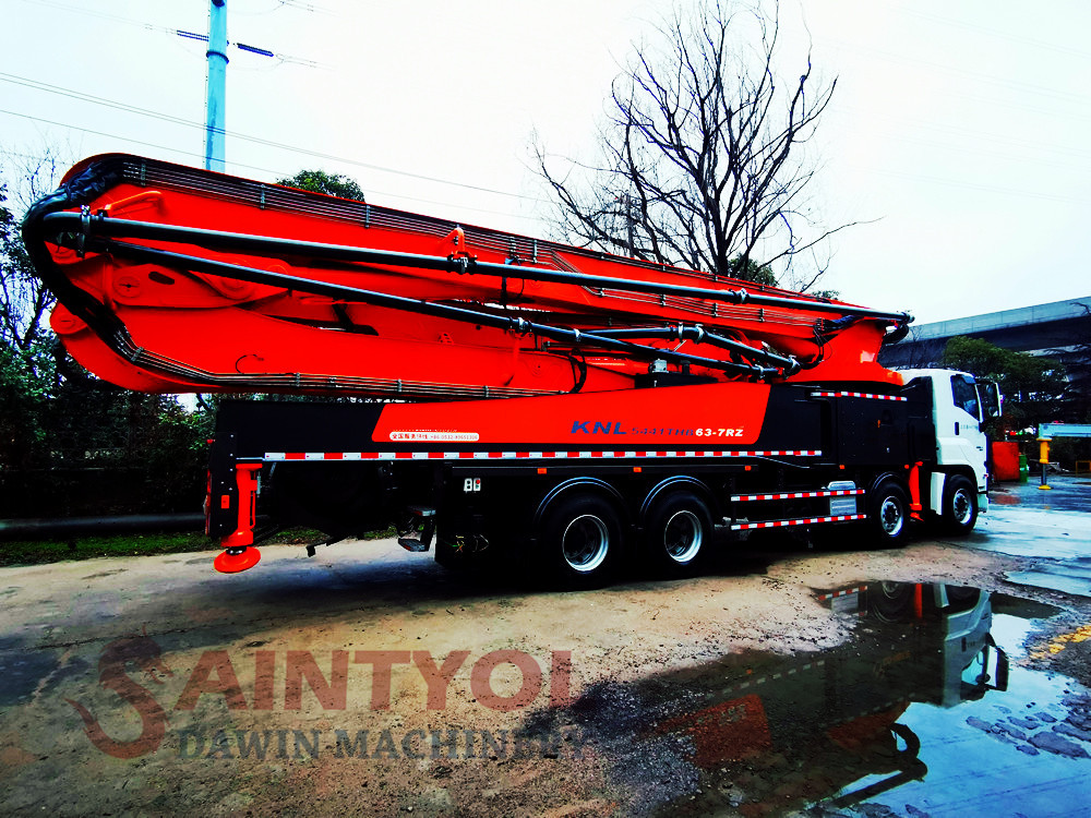 63m concrete placing boom concrete pump truck