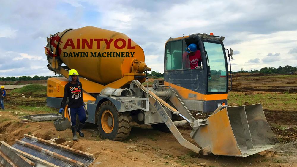 automatic self loading concrete mixer truck
