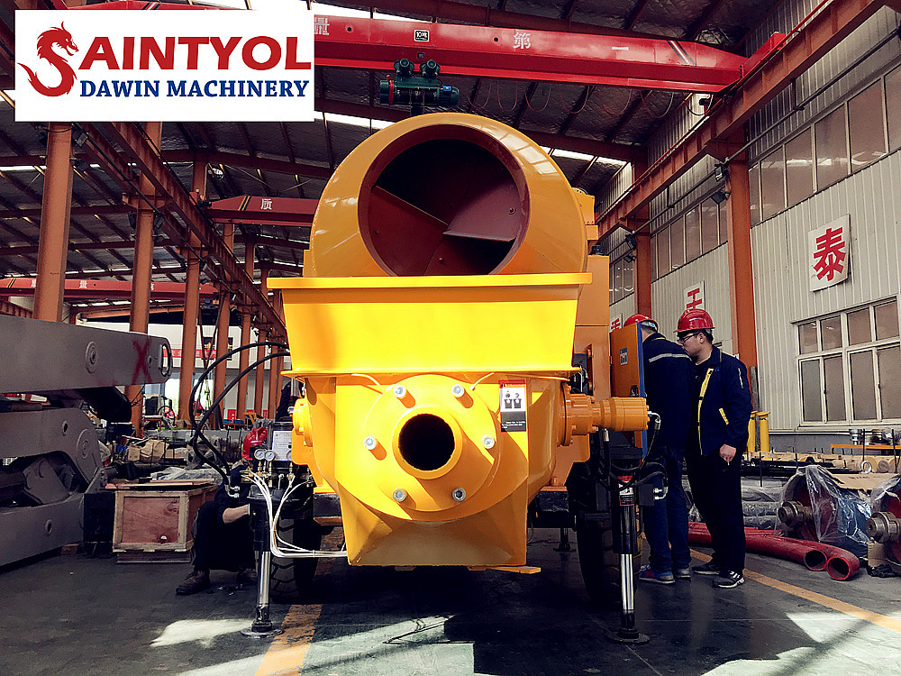 Hot selling in Africa concrete mixing pump concrete mixer with pump