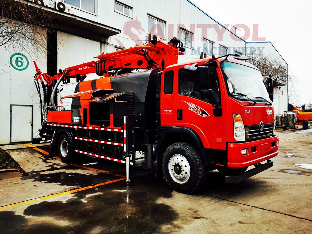 truck mounted wet concrete spraying machine
