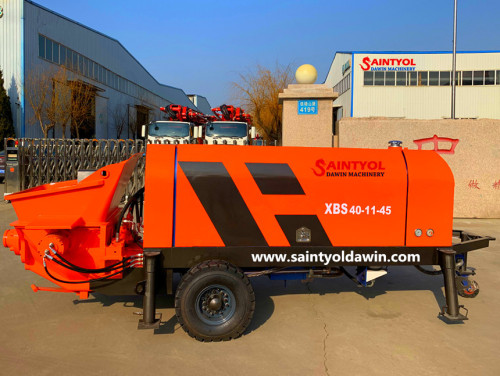 60m3/hr Trailer Concrete Pump With Diesel or Electric Power