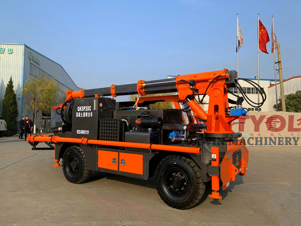 concrete spraying truck robot spraying machine
