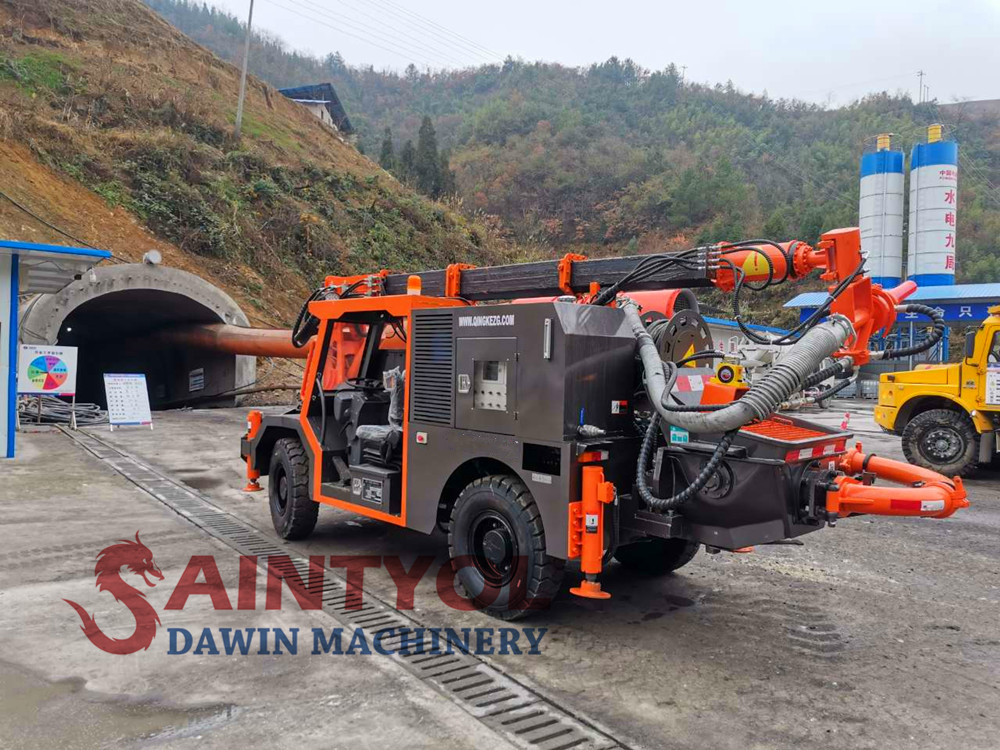 concrete shotcrete pump truck