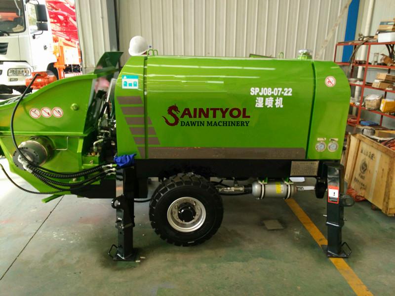 concrete spraying machine shorcrete pump