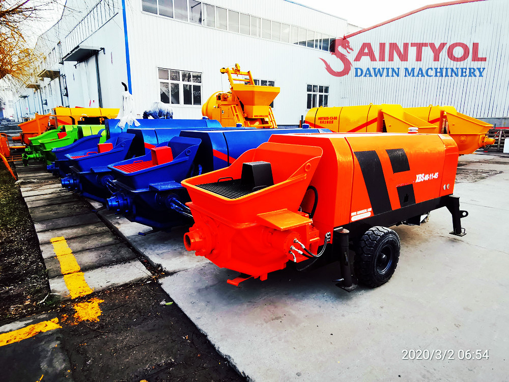 concrete pumps in stock in factory