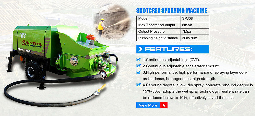 China hot selling high quality wet concrete shotcrete pump
