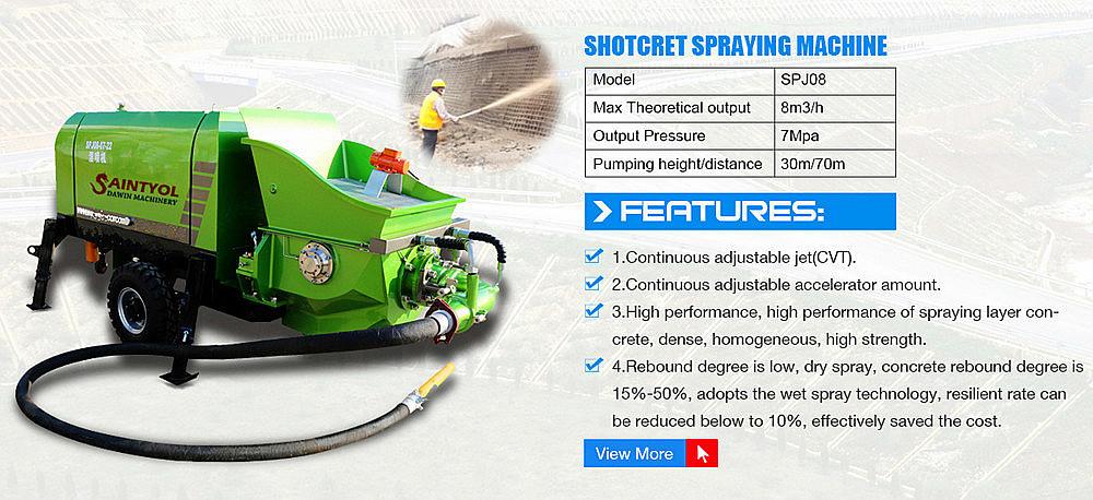 China hot selling high quality wet concrete shotcrete pump