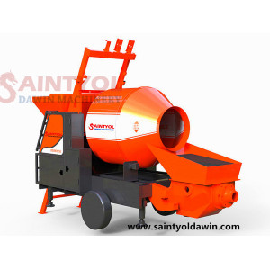 JBT40-11-45 Trailer Mobile Electric Concrete Mixer with Pump