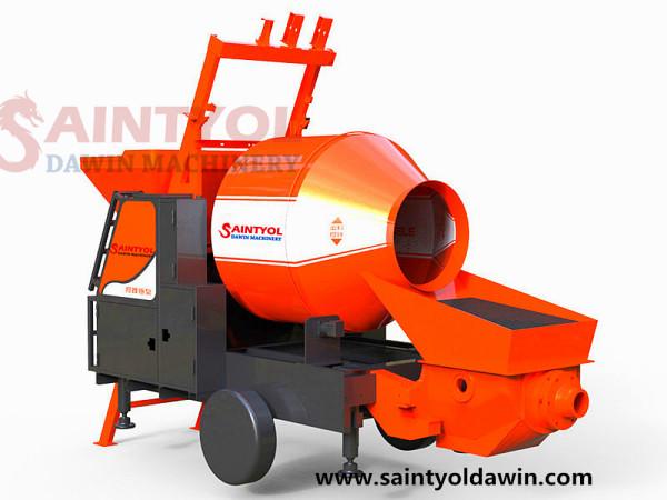 JBT40-11-45 Trailer Mobile Electric Concrete Mixer with Pump