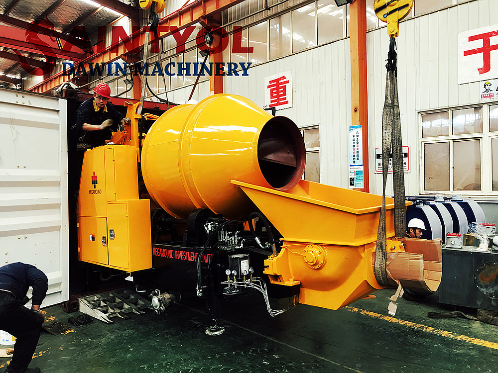 concrete pump mixer concrete mixing pump shipped to Africa