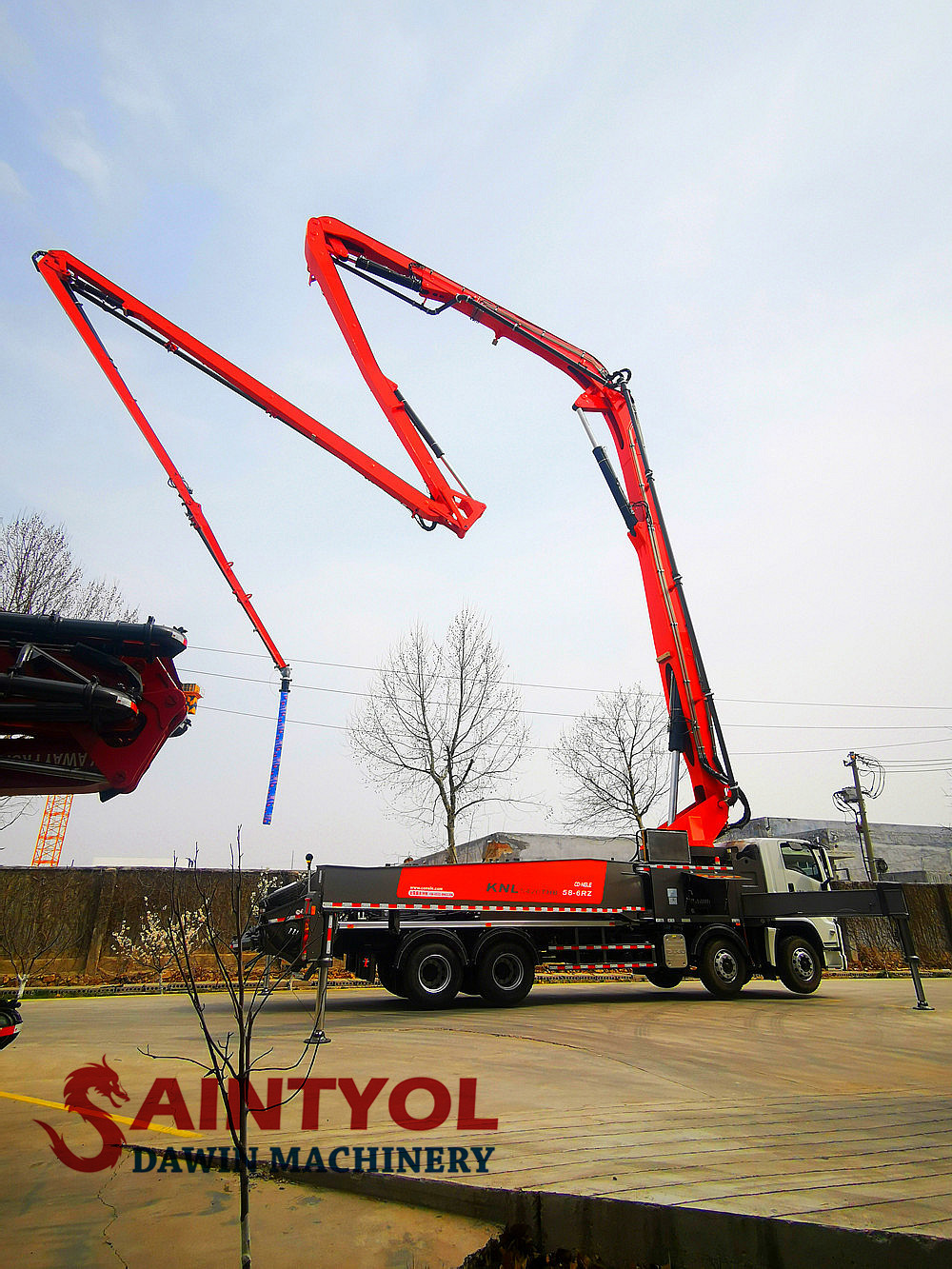58m 6 rz concrete placing boom pump truck