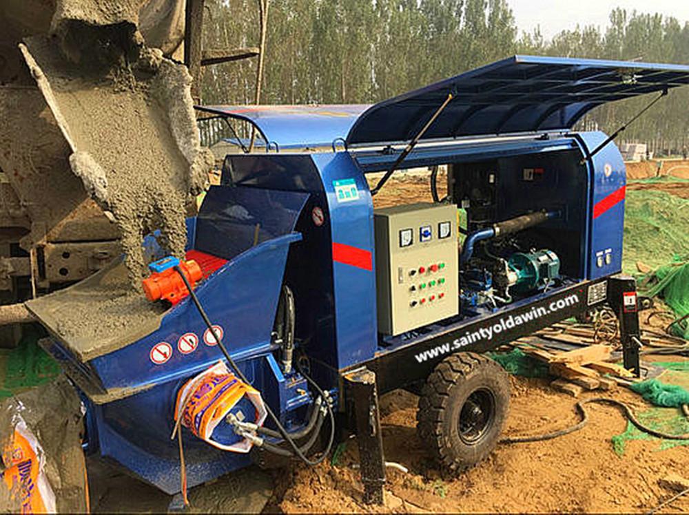 diesel concrete pump for pumping concrete