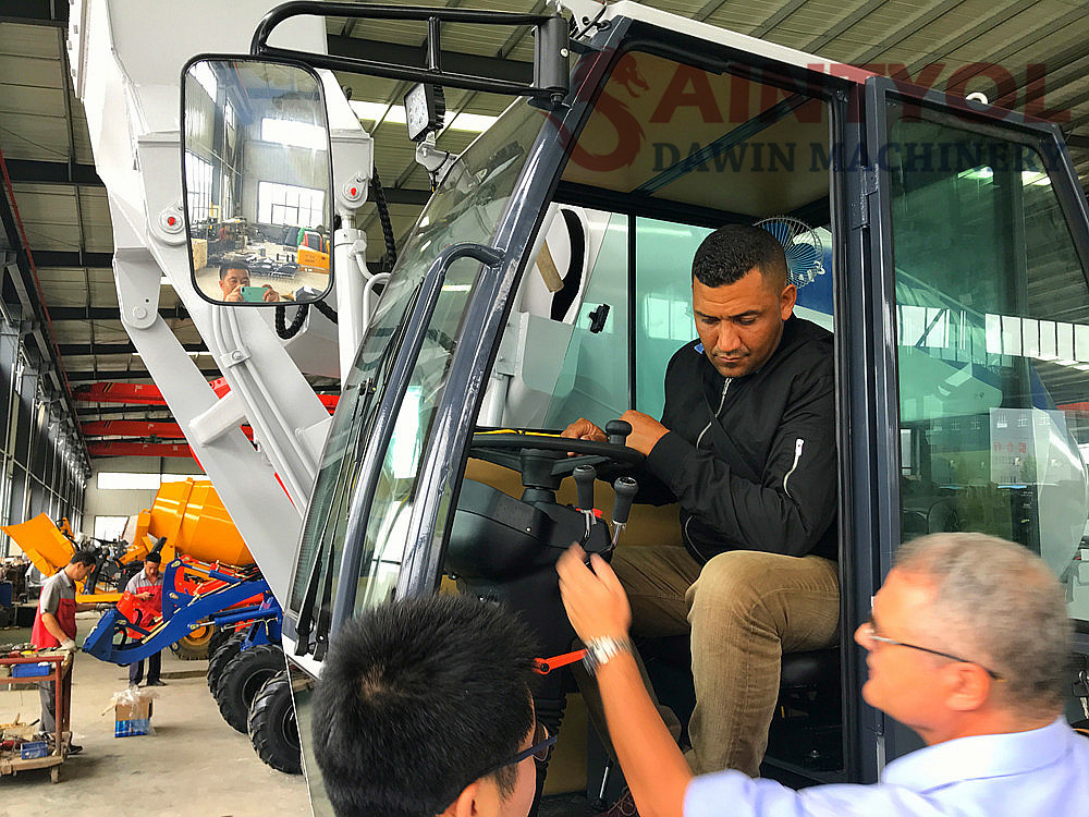 self loading concrete mixer truck customize testing driving