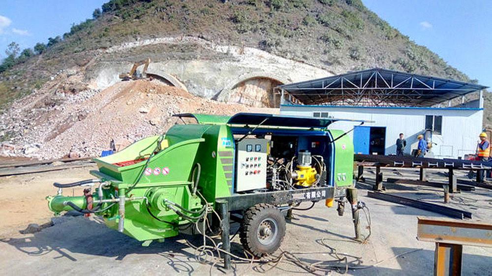 trailer concrete pump job site performance