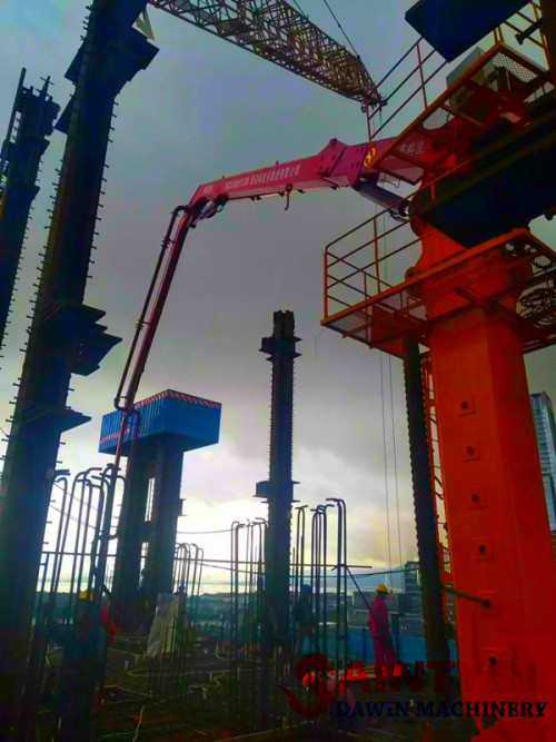 29m Stationary Tower Hydraulic Jack-Up Concrete Placing Boom