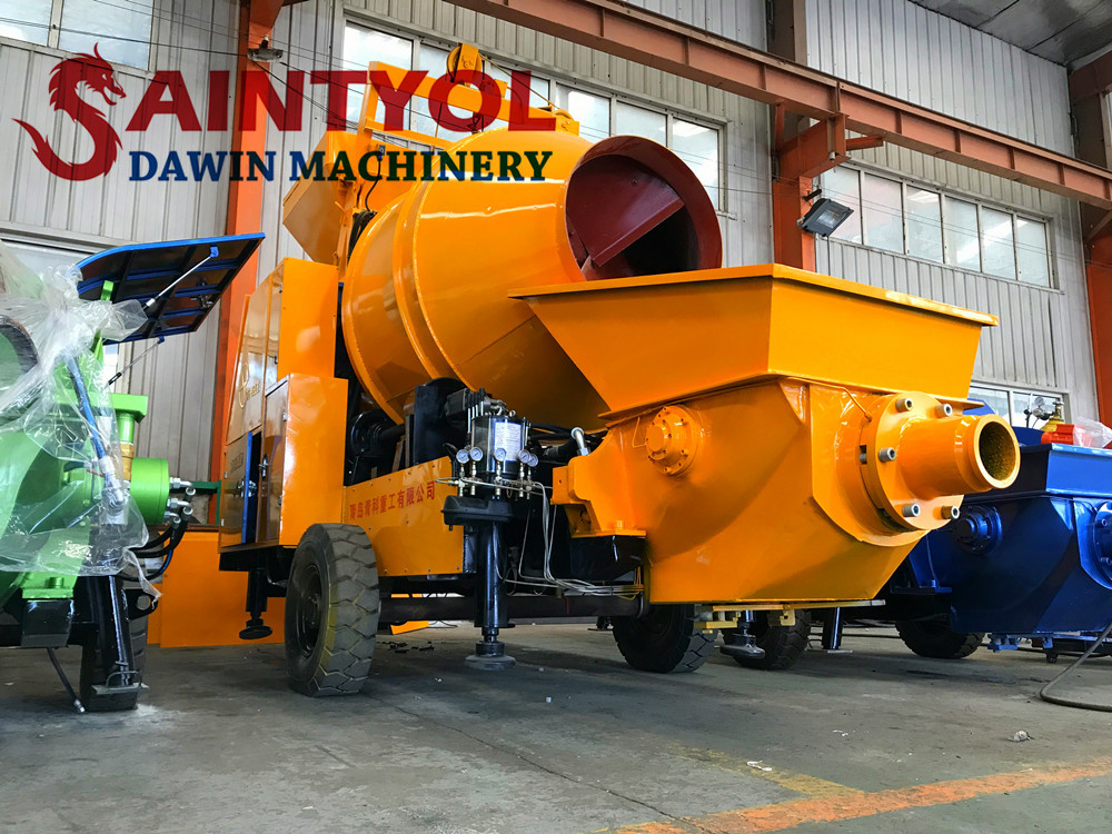 china concrete mixing pump mixer