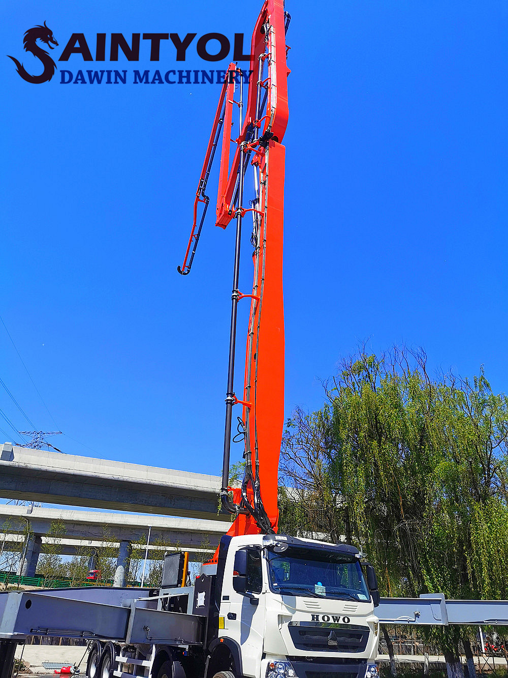concrete boom pump truck China factory
