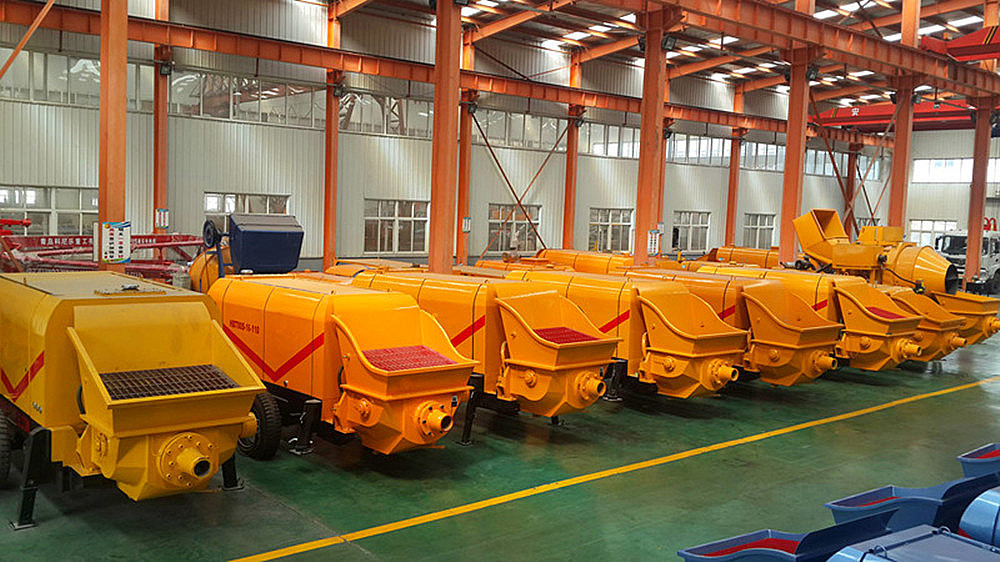 trailer concrete pumps factory China