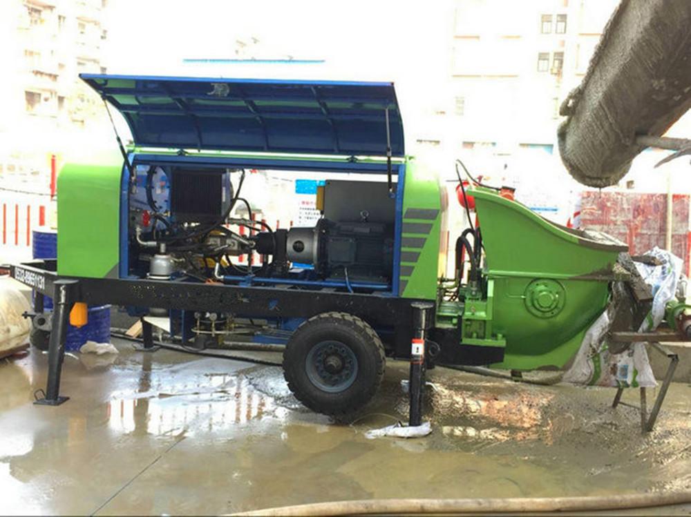 concrete spraying machine concrete pump