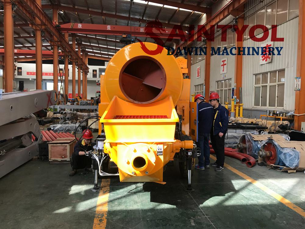 40 cubic meter per hour concrete mixer pump workshop