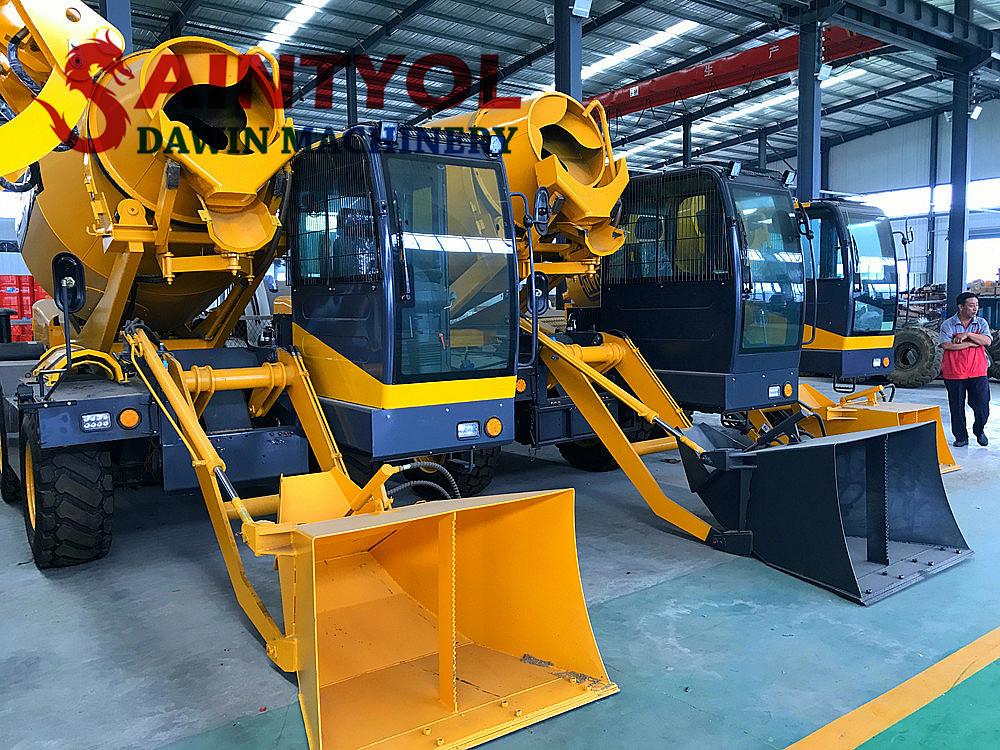 automatic self loading concrete mixer truck shipped to Reunion island