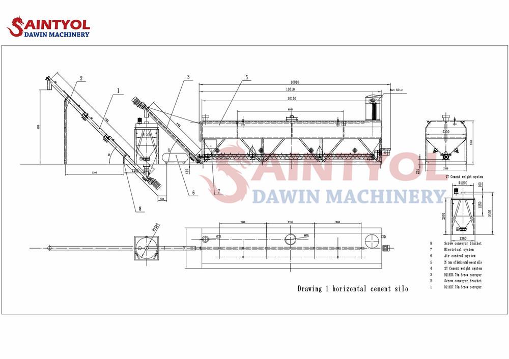 low profile horizontal cement silo