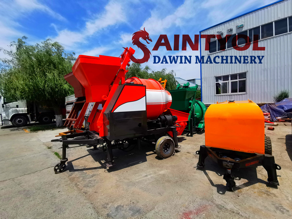 automatic self loading concrete pump mixer
