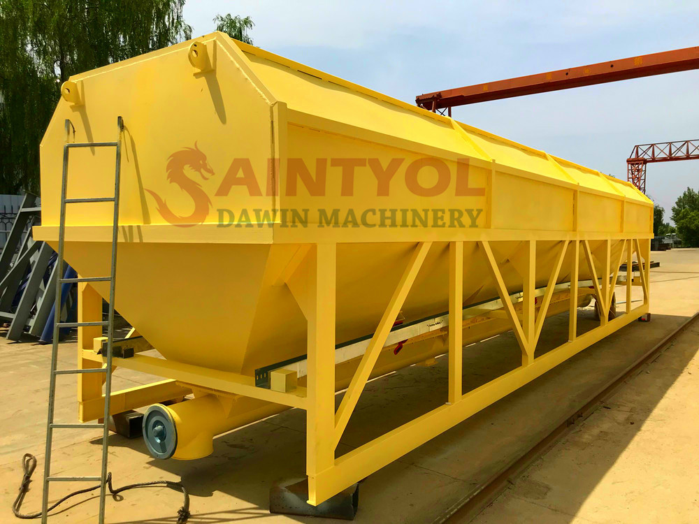 low profile horizontal cement silo