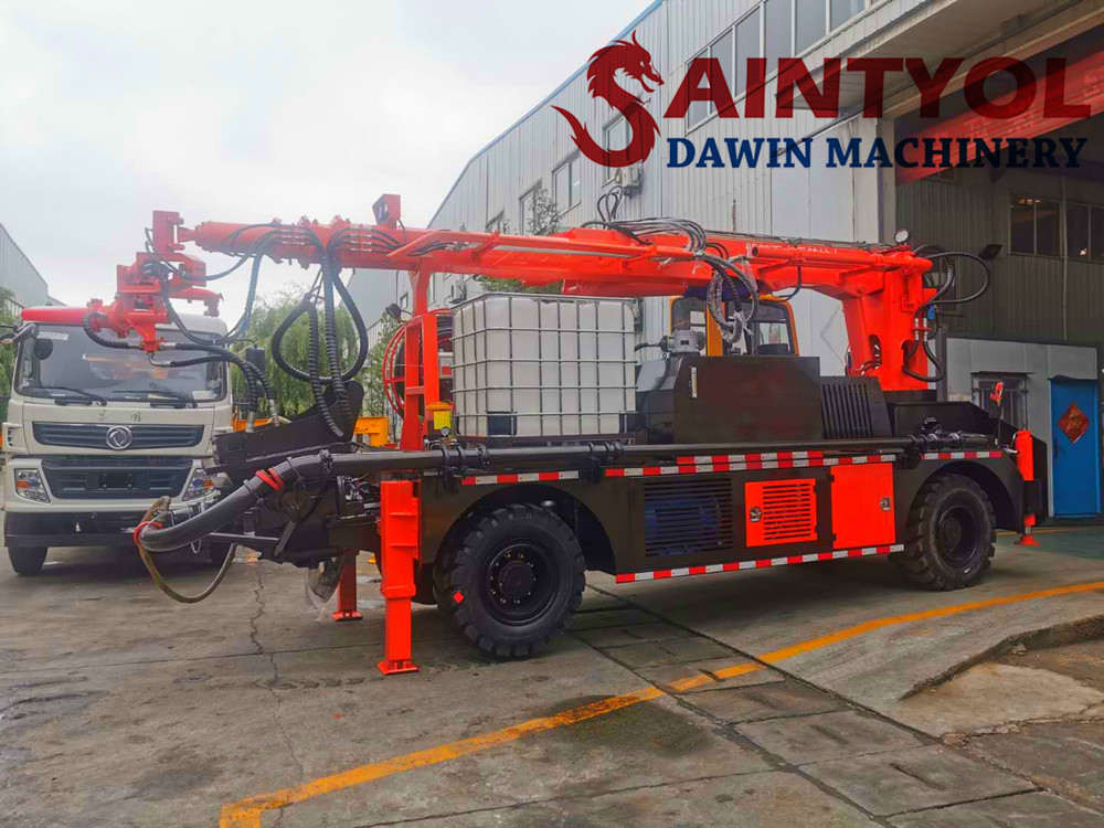 wet concrete shotcrete pump machine