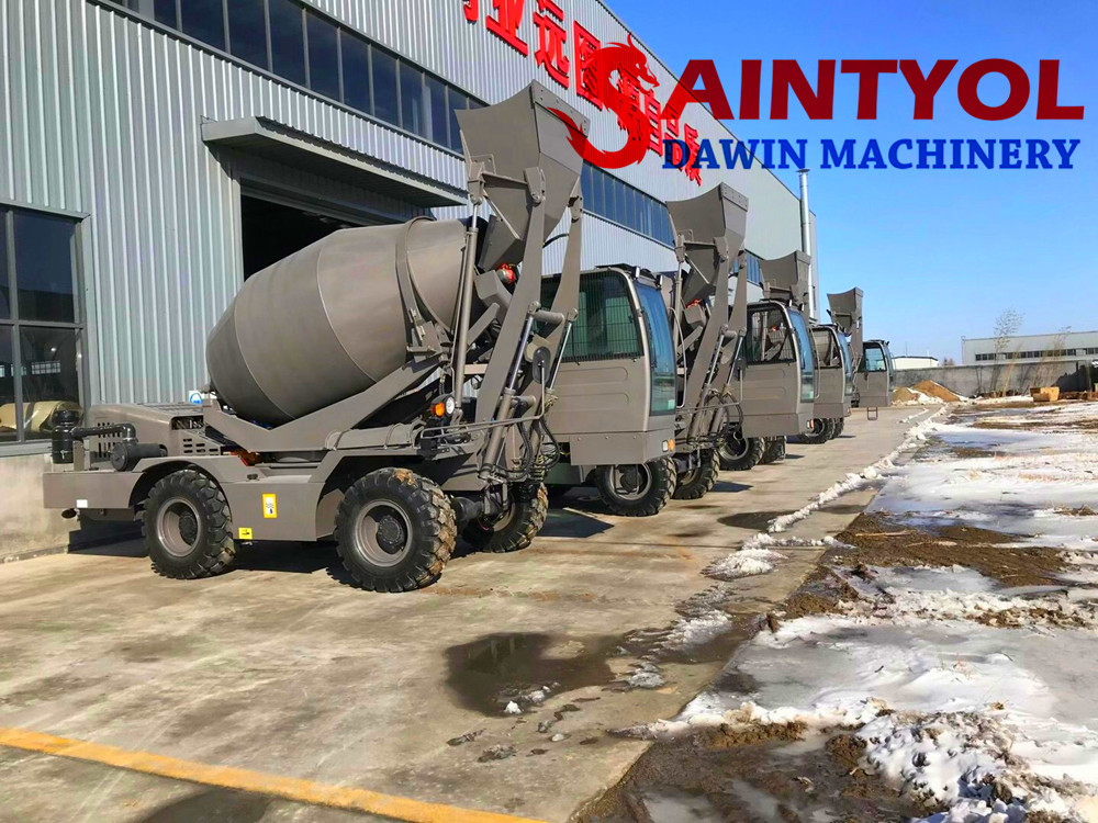 self loading concrete mixer truck china