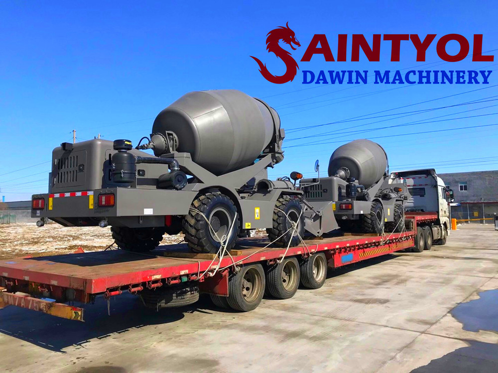 self loading concrete mixer truck shipping