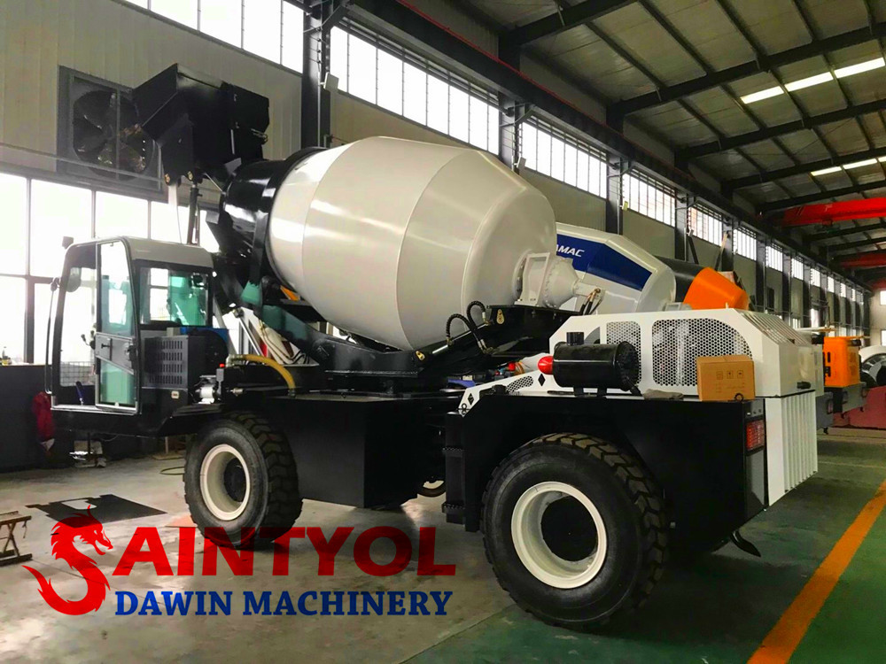 self loading concrete mixer truck workshop photos
