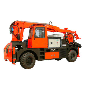 30m3/hr Truck Mounted Wet Concrete Robot Spraying Machine, Shotcrete Pump